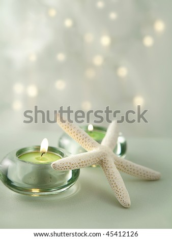 Soft Spa Scene With Gentle Lights In The Background