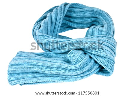 Soft, stylish and colorful winter scarf  isolated with clipping path