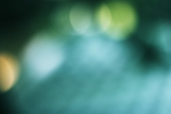 Soft sweet background with natural bokeh. Abstract gradient desktop wallpaper for media presentation. Teal green.