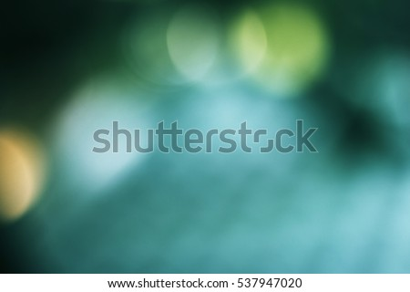 Soft sweet background with natural bokeh. Abstract gradient desktop wallpaper for media presentation. Teal green. #537947020