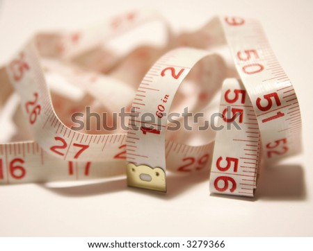 Soft tape measure in a pile