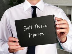 Soft Tissue Injuries inscription on the piece of paper.