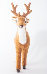 soft toy deer on a white background.