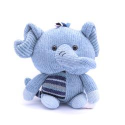 soft toy elephant isolated on white