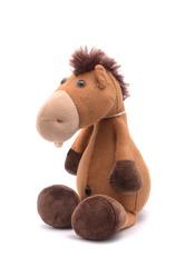 soft toy horse isolated on white