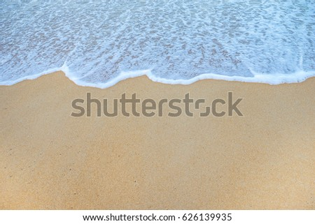 Soft Wave Of Ocean On Sandy Beach. Background. Selective #626139935