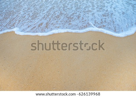Soft Wave Of Ocean On Sandy Beach. Background. Selective #626139968
