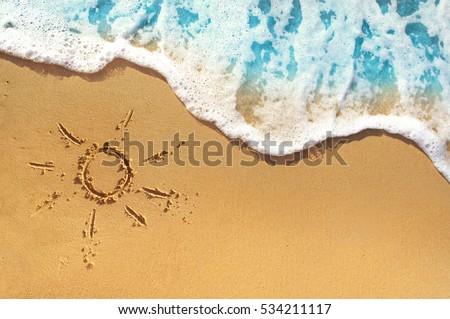 soft waves with foam blue ocean ...