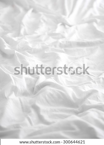 Soft white bed sheet background