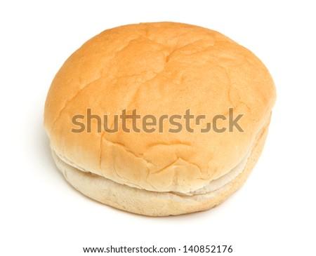Soft white bread roll
