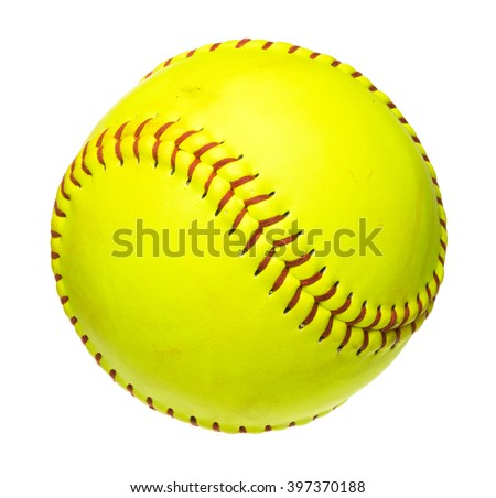 Softball ball isolated on white background