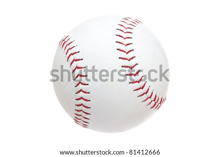 Softball Isolated on a White Background