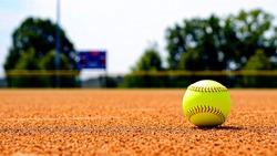 Softball on Softball Field with Dirt