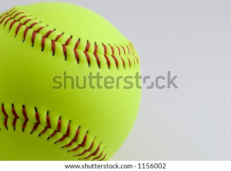 Softball on white