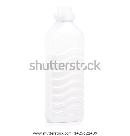 Blank White Bottle Of Bleach Isolated On White Background