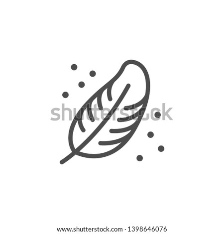Softness line icon isolated on white