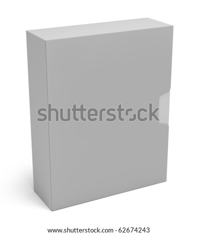 Software box isolated on white