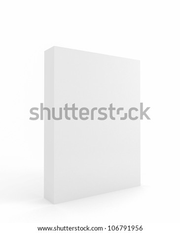 Software Carton Package Blank on white