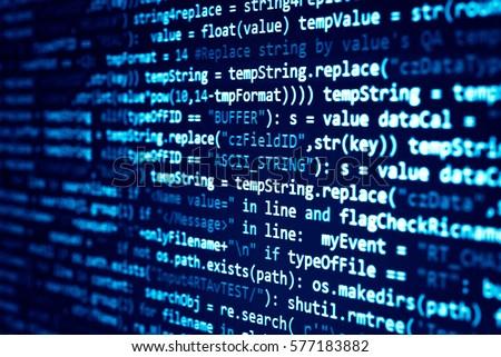 software developer programming...