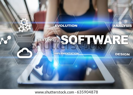Software development. Data Digital Programs System Technology Concept #635904878