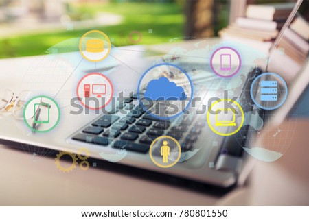 software icons on laptop #780801550