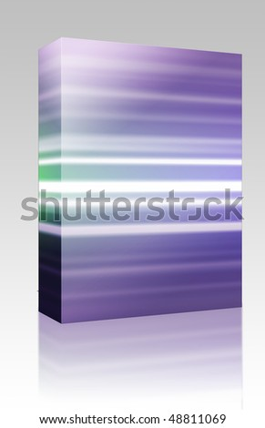 Software package box Glowing colored light streaks, horizontal lines abstract
