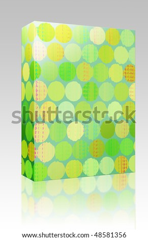 Software package box Paint splotches splashes rough abstract seamless background wallpaper - stock photo