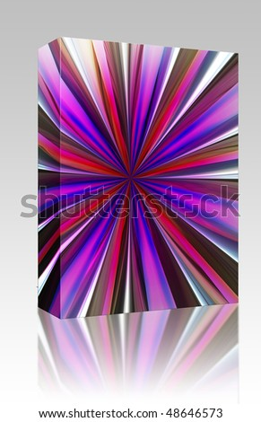 Software package box Radial zoom burst of energy, abstract background illustration