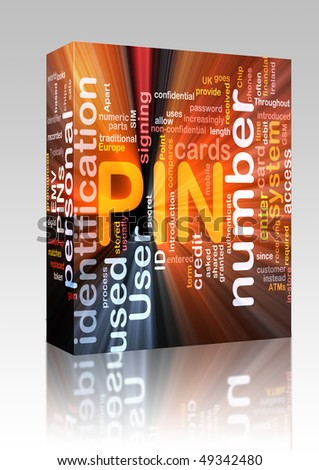Software package box Software package box Word cloud concept illustration of Pin number