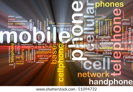 Software package box Word cloud concept illustration of mobile phone