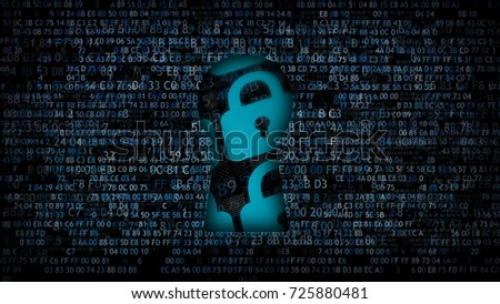 Software protection. It is not possible to hack. Information under protection. Сток-фото ©