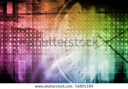 Software System Application Data as a Abstract - stock photo