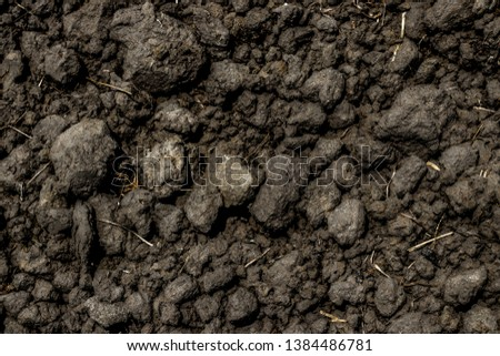 Soil condition and clay cube pattern from the soil preparation for cultivation and agriculture as abstract textured and background #1384486781