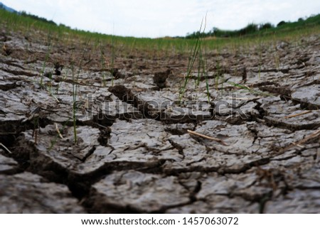 Soil, dry soil background. Cracked soil background. Soil texture #1457063072