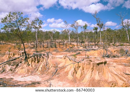 soil erosion due to overgrazing leading to desertification caused by over exploitation
