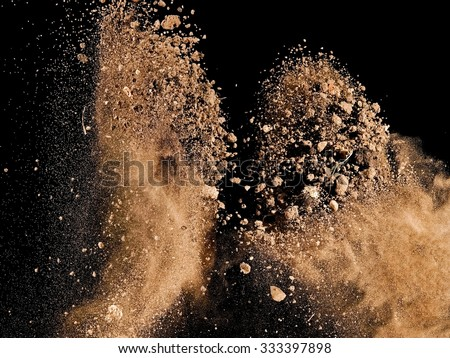 Stock Photo Soil explosion