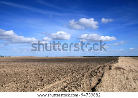 Soil field in spring