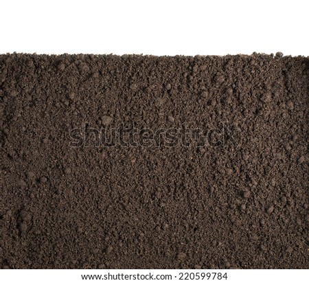 Soil or dirt section isolated background Stock photo ©