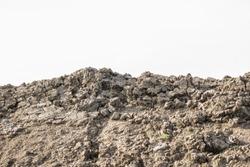 Soil white background