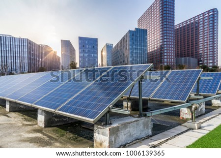 Solar and modern business office building