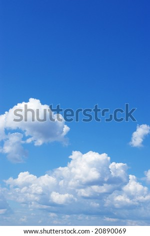 Solar blue sky as a great background - stock photo