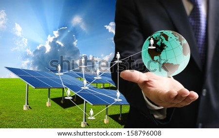 Solar cell business concept