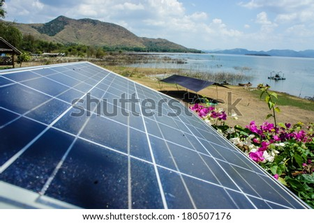 solar cell in Thailand National Park