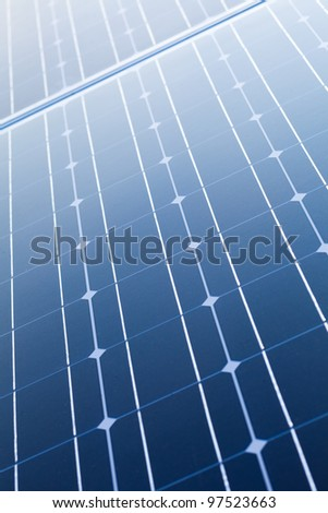 Solar cells - stock photo