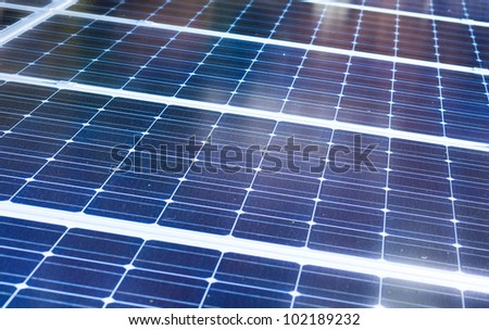 Solar cells close up