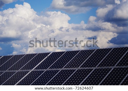 solar collector energy plant outside against sky