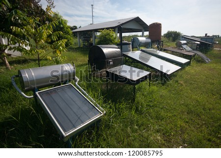 Solar collector tank container for water heating and water on Solar panels.