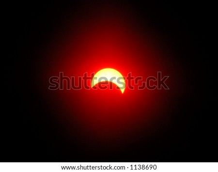 Solar eclipse, abstract light effect