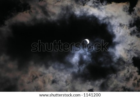 Solar eclipse at 70% phase on 29-march-2006 in Romania