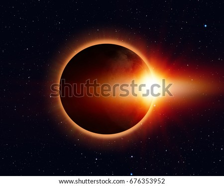 "Solar Eclipse ""Elements of this image furnished by NASA "" #676353952"
